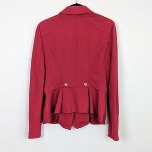 WHBM Double Breasted Knit Red Blazer Size 10